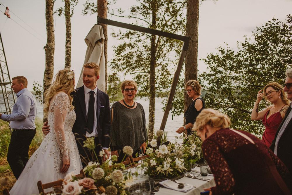 outdoor wedding reception finland