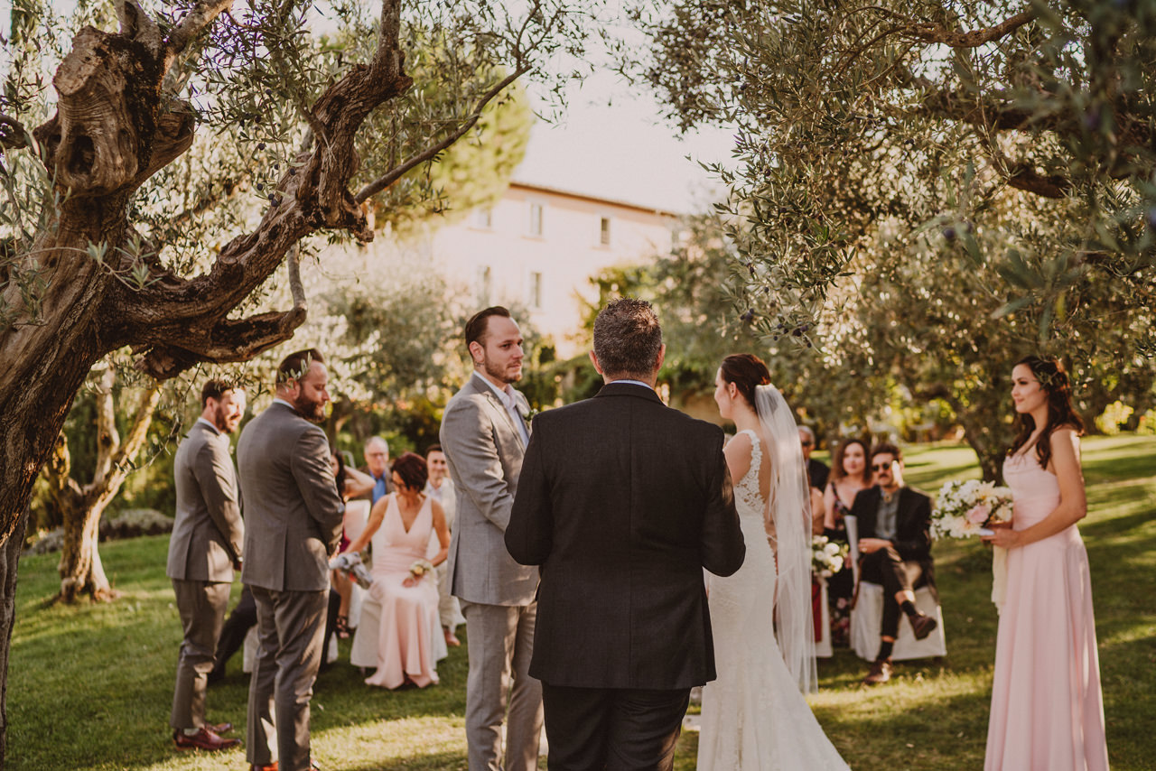 outdoor wedding in italy
